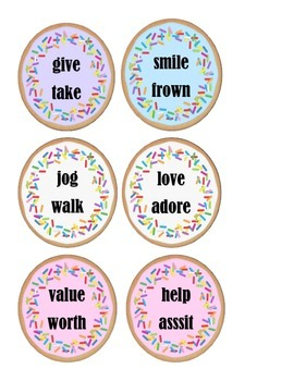 """Antonyms and Synonyms - """"Place Your Cookie in the Correct Jar"""""""