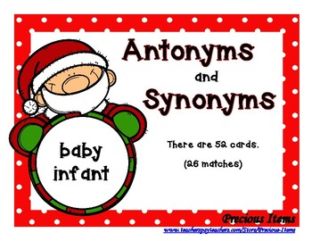 Antonyms And Synonyms Santa Claus By Precious Items Tpt Another way to say hoochie mama? antonyms and synonyms santa claus