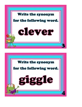 Antonyms and Synonyms Scoot Game