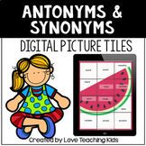 Antonyms and Synonyms Secret Picture for Google™ Classroom