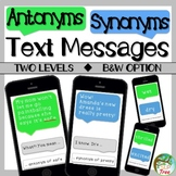 Antonyms and Synonyms Text Messages Print and No Print