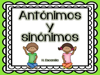 Antonyms and Synonyms in Spanish