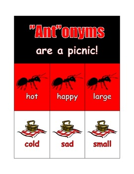"""Ant""onyms are a picnic!"