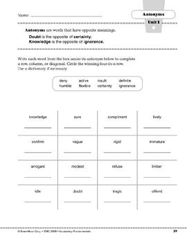Antonyms: doubt/certainty