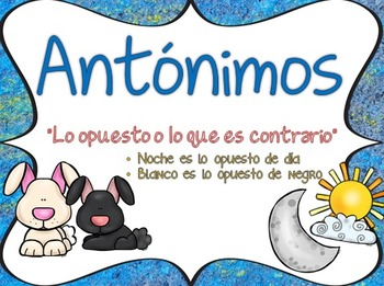 Antonyms in Spanish