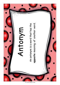 Antonyms - matching cards - 128 pairs!