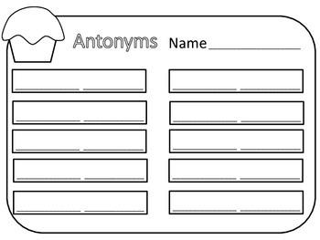Antonyms on cupcakes