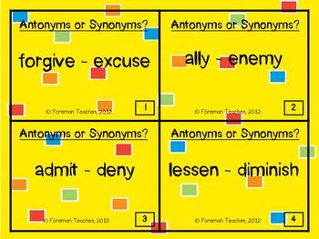 Antonyms or Synonyms?