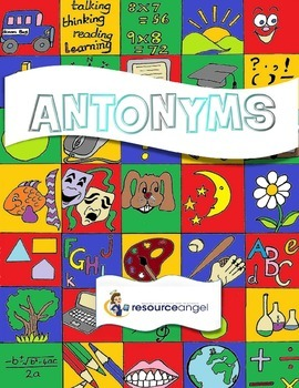 Antonyms printables for teaching Standard English