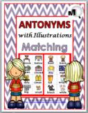 Antonyms Matching, Worksheets & Poster Set 1