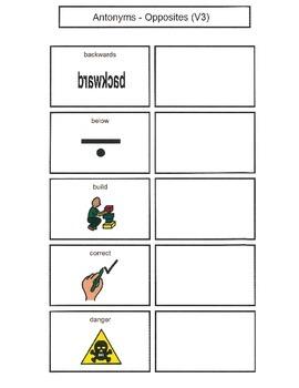 Antonyms with Visual Representation