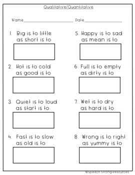 Antonyms with a Winter Theme