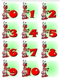 Ants 0-10 Number Cards