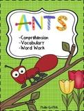 Ants {1st Grade Harcourt Trophies}: Comprehension, Vocabul