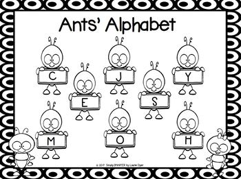 Ants' Alphabet:  NO PREP Letter Matching Grab and Cover Game
