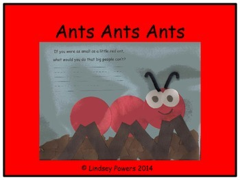Ants Ants Ants - Craftivity and Labeling