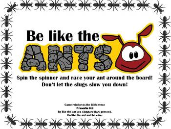 Christian Character Traits Board Game - Be like the Ant! - Proverbs 6:6