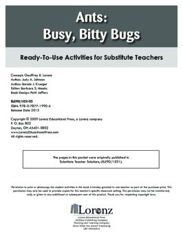 Ants: Busy, Bitty Bugs