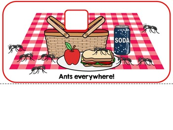 Ants Everywhere a Spring Picnic Adapted Interactive Book {Autism, Special Ed}