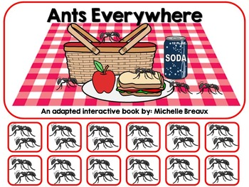 Ants Everywhere a Spring Picnic Adapted Interactive Book {