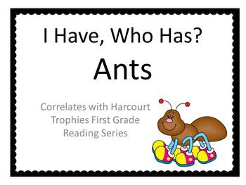 """Ants """"I HAVE, WHO HAS?"""" Sight Word Practice for Harcourt Trophies"""