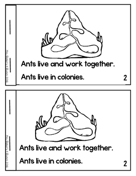 Ants Insects Non-fiction Emergent Reader