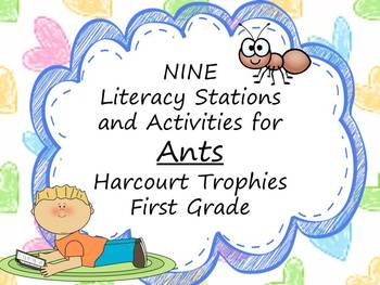 Ants Literacy Stations for Harcourt Trophies First Grade