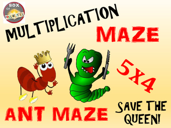 Ants Math Activity: Ants Multiplication Maze
