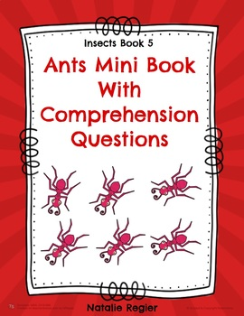 Ants Mini Book With Comprehension Questions