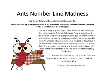 Ants Number Line Madness