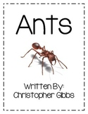 Ants a Nonfiction Text and Activities