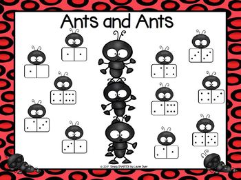 Ants and Ants:  NO PREP Composing Numbers Roll and Cover Game