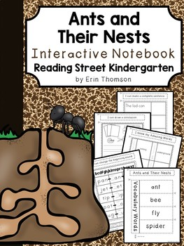 Ants and Their Nests Interactive Notebook ~ Reading Street Kindergarten