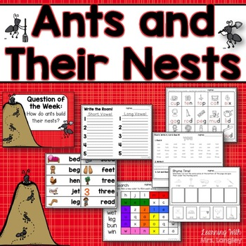 Ants and Their Nests KINDERGARTEN Unit 6 Week 6