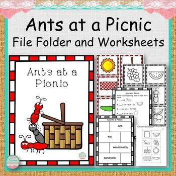 Ants at a Picnic File Folder and Worksheets