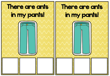 Ants in my Pants Literacy Game