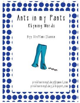 Ants in my Pants Rhyming Words