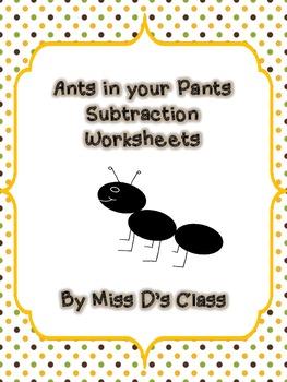 Ants in your Pants Subtraction Activities