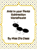 Ants in your Pants Subtraction Activities