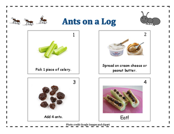 Ants On A Log Snack Sequence By Preschool Priorities Tpt