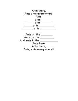 Ants poem and craftivity