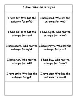 Antsy for Antonyms