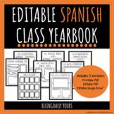 Editable Spanish Class Yearbook: Anuario Digital