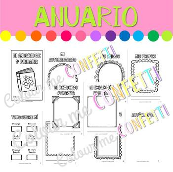 Anuario Fin de Curso - Colour me Confetti