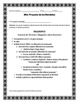 Anuncio de Revista - Mini-proyecto de los Mandatos