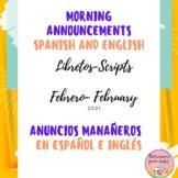 Anuncios para la Semana Bilingues FebreroBilingual Morning