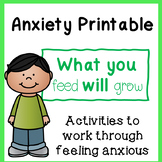 Anxiety Printable Activity