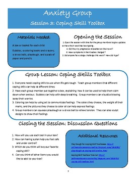 Anxiety CBT Counseling Group Curriculum