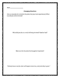 Anxiety: Changing Situations worksheet