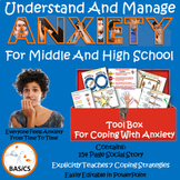 Anxiety Coping Strategies for Middle and High School